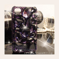 iPhone 4 Case, iPhone 4s Case, iPhone 5 Case, bling iphone 4 case, iphone 5 bling case, Purple crystal iphone 4 case, Luxury iphone 4 case