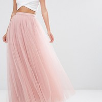 Little Mistress Tulle Maxi Skirt at asos.com