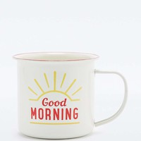 Good Morning Enamel Mug - Urban Outfitters
