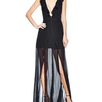 The Jetset DiariesTan Lines Ruffle Maxi Dress