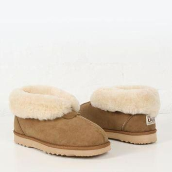 ICIK8X2 UGG Boot Mens Sheepskin Slipper