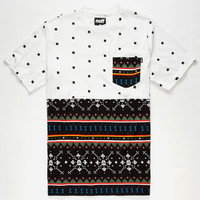 Neff Death Isle Mens Pocket Tee White  In Sizes