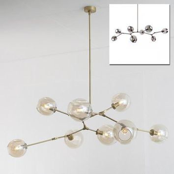 Vintage magic hanging light stylish sphere ball industrial LOFT Iron droplight Black Gold tree classic modern LED pendant lamp
