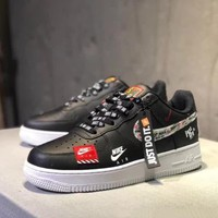 """Nike Air Force 1 x Just Do It""  Unisex Casual Fashion Letter Shoelace Plate Shoes Couple Sneakers"