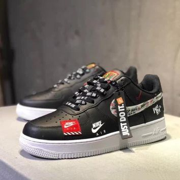 """""""Nike Air Force 1 x Just Do It""""  Unisex Casual Fashion Letter Shoelace Plate Shoes Couple Sneakers"""
