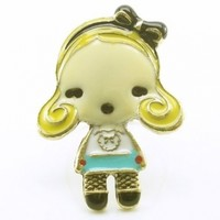 DaisyJewel Haute Baby Wonderland Goldilocks Alice Adjustable Ring - Enamel and Bronze