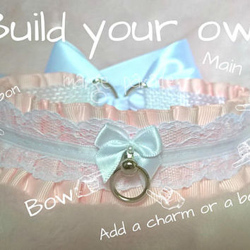 Build your own delicatess collar - bdsm proof bondage ddlg little space petplay strong