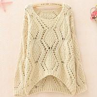 A 083001 Hollow Sweater