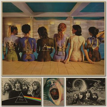 Pink Floyd Music Poster HD Bar/pub/cafe Decration Rock star poster Wall poster Home Living room Decor