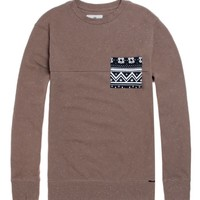 On The Byas Holiday Nep Crew Fleece - Mens Hoodies - Brown