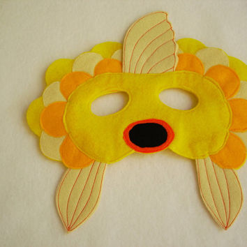 Children's Yellow FISH Felt Mask, What Does The Fox Say