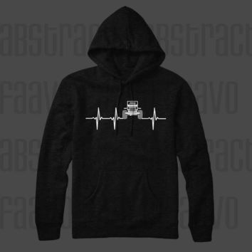 Jeep Life Heart Beat Wrangler 4x4 Off Road Mopar Pullover Hoodie