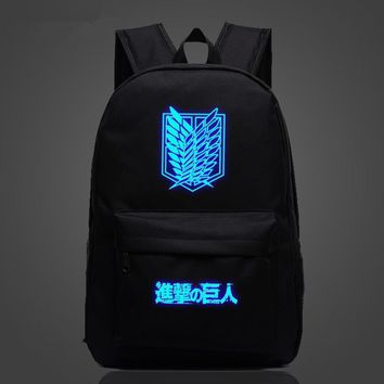 Cool Attack on Titan FVIP   Backpack Japan Anime Printing School Bag for Teenagers Cartoon Travel Bag Nylon Mochila Galaxia AT_90_11