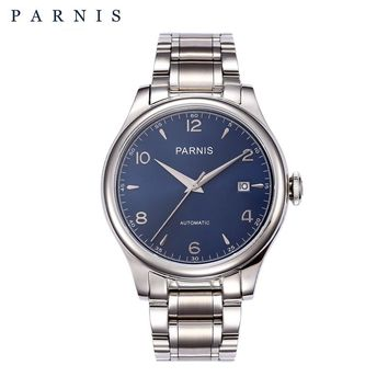 PARNIS 38mm Mechanical Watches Full Stainless Steel 18k Gold-plated Automatic Watch Men Top Brand Luxury relogio masculino