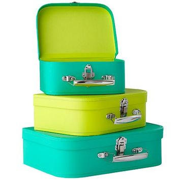Bon Voyage Suitcase (Bright Green/Lime) in Bins & Baskets | The Land of Nod