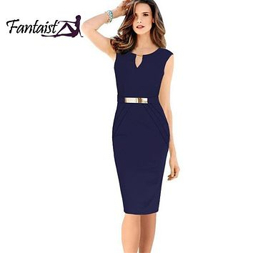 Fantiaist Fashion Women Empire Waist Knee-Length Sequined Elegant dresses