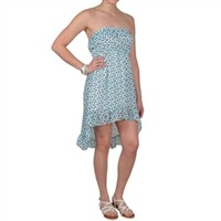 Brinley Co Juniors Strapless Empire Waist Hi-low Dress