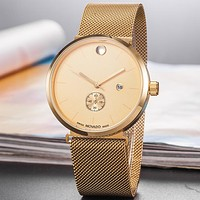 Movado Women Men Fashion Quartz Watches Wrist Watch