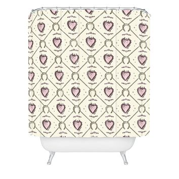 Belle13 Lucky Love Web 1 Shower Curtain