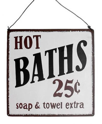 Hot Baths Metal Sign | DotComGiftShop