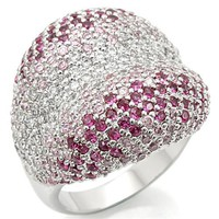 Pink Pave Stone Cocktail Ring