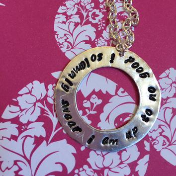 I solemnly swear I am up to no good Harry Potter necklace