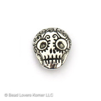Green Girl Studios Sugar Skull Button Pewter