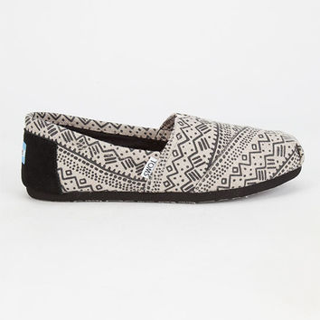 TOMS Womens Printed Wool Classic Slip-Ons | Casuals & Flats