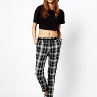 River Island Black And White Check Pant