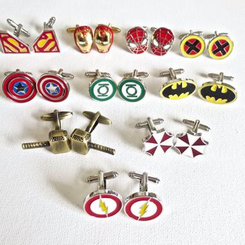 Superheros Cufflinks