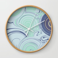 Spiraling Blue Wall Clock by sm0w