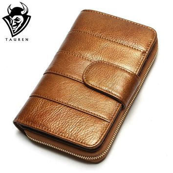 Women Genuine Leather Wallet Female Hasp Handmade Ladies Id Coin Purse Holder