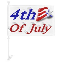 4th of July Star & Stripes 3D Car Flags