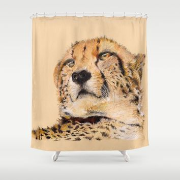 Season of the Cheetah Shower Curtain by michael jon