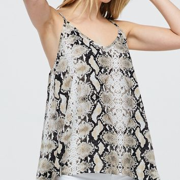 Snake Print Camisole Top - Multi