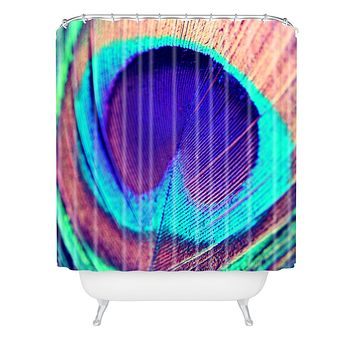 Shannon Clark Pretty Peacock Shower Curtain