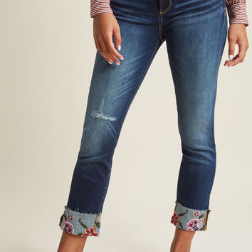 Driftwood Off the Cuff Cropped Skinny Jeans