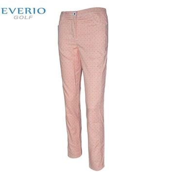 EVERIO British style golf plaid pants spring and autumn women golf Sportswear quick-drying breathable lady golf trousers XS-2XL