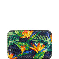Judith Leiber Couture Seamless Bird of Paradise Crystal Clutch Bag