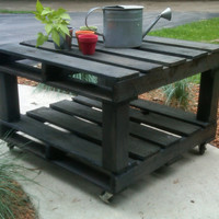 Charcoal Pallet Table