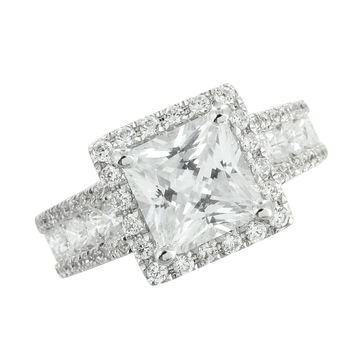 Princess Cut Solitaire Ring Wedding Engagement Simulated Diamonds Brand New Sale