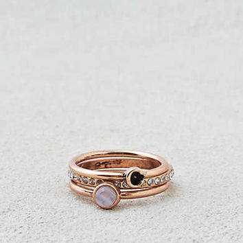 AEO C Initial Ring Set , Gold