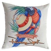 Panama Jack Parrot Outdoor Throw Pillows (Set of 2)