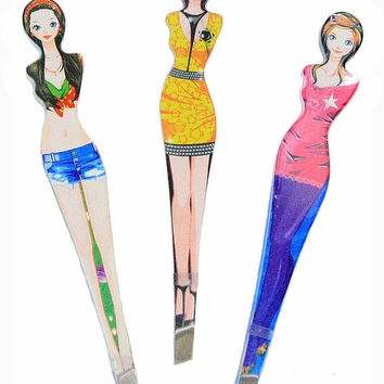 Lot of 3 Fashion Girl Stainless Steel Precision Tweezers