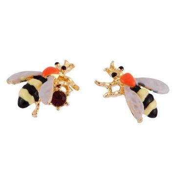 ONETOW Women Lady Earring Fashion Cute Bee 3D Jewelry Gift With Thanksgiving&Christmas Gift