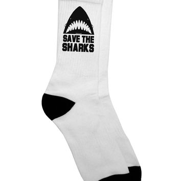 Save The Sharks Adult Crew Socks