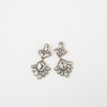 Georgia Crystal Dangle Statement Earrings