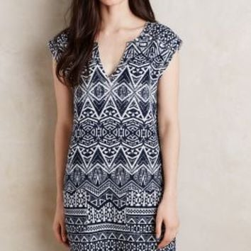Velvet by Graham and Spencer Leyma Terry Tunic in Blue Motif Size: