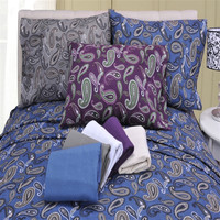 Flannel Solid and Paisley Sheet Sets