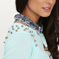 Nollie Studded Crew Neck Fleece at PacSun.com